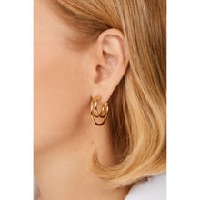 Load image into Gallery viewer, Iris gold vermeil hoops