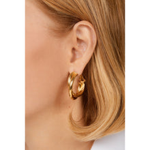 Load image into Gallery viewer, Giorgia gold vermeil hoops