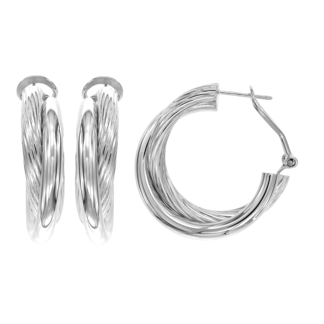 Giorgia sterling silver hoops