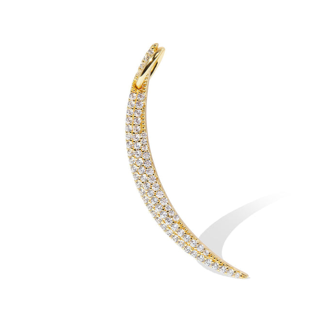 Tusk pave gold vermeil charm