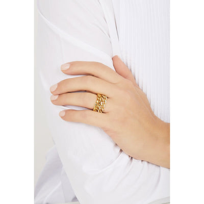Catena chain gold vermeil ring