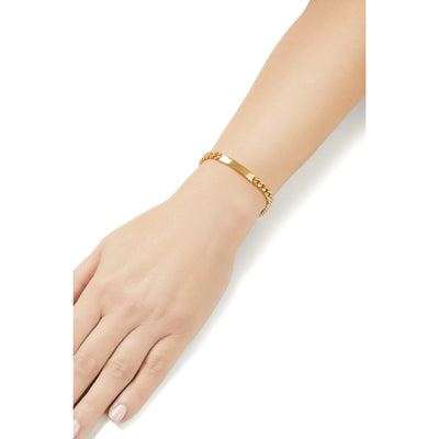 Catena ID gold plated chain bracelet