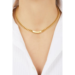 Catena ID gold plated chain necklace