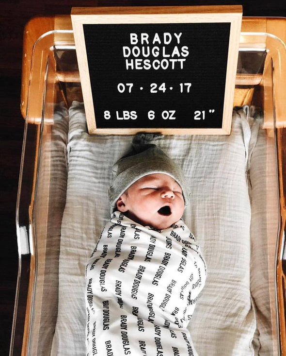 Organic Personalized Swaddle Blanket