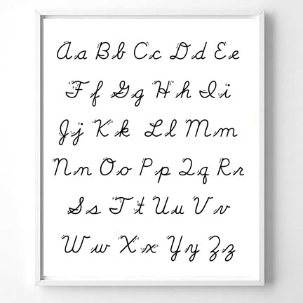 Wall Art ABC, Cursive