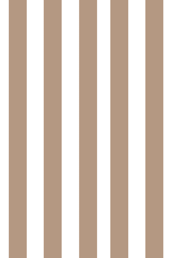 Woolf With Me Fitted Crib Sheet Stripes color_almond