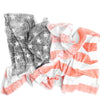 Organic Swaddle Blanket Distressed American Flag - Woolf With Me® - 1