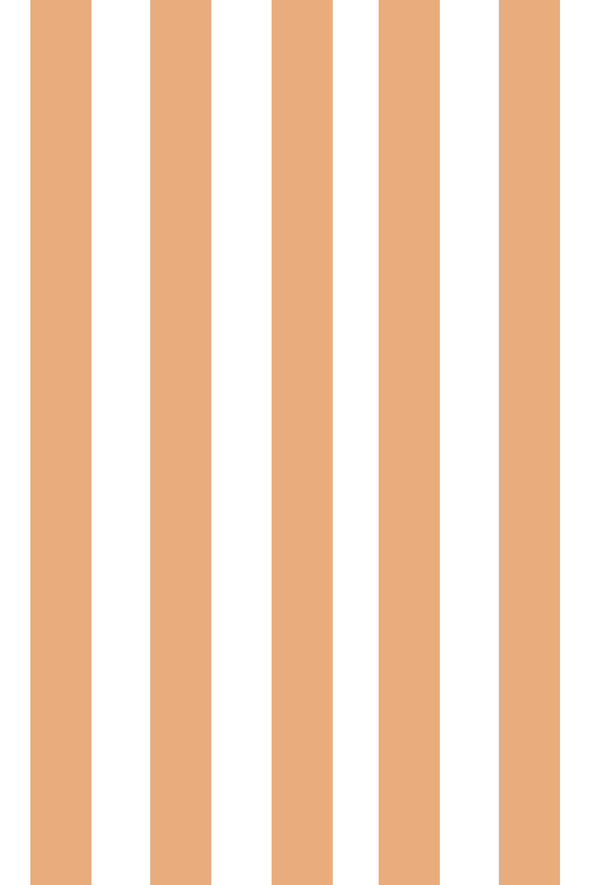 Woolf With Me Fitted Crib Sheet Stripes color_apricot