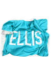 Woolf With Me Organic Personalized Baby Blanket color_aqua