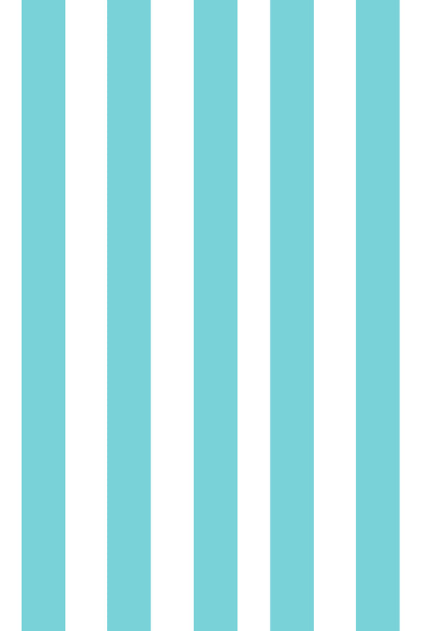 Woolf With Me Fitted Crib Sheet Stripes color_aqua