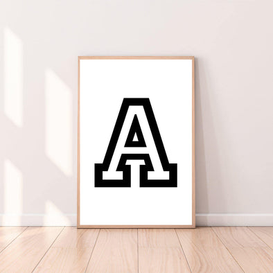 Letter Wall Art A color_black