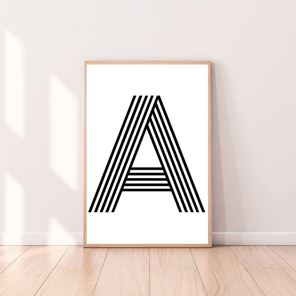 Wall Art Letter A color_black