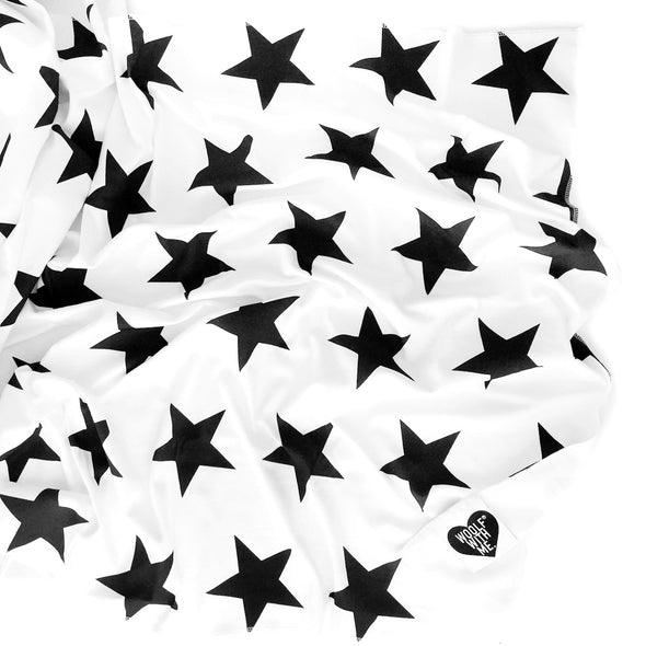 Organic Swaddle Blanket Big Stars - Woolf With Me®
