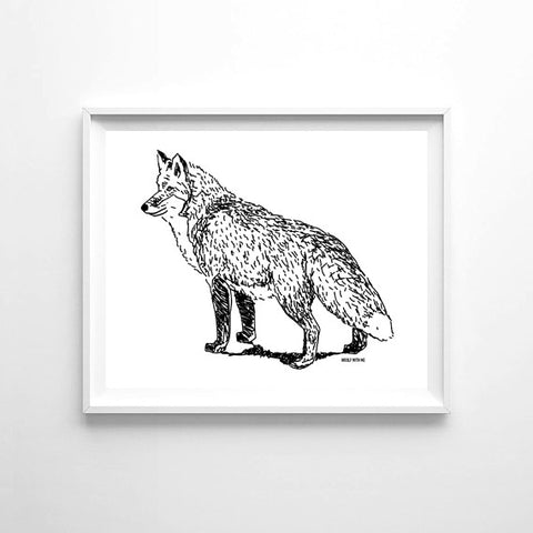 Wall Art Fox, 8x10 - Woolf With Me®
