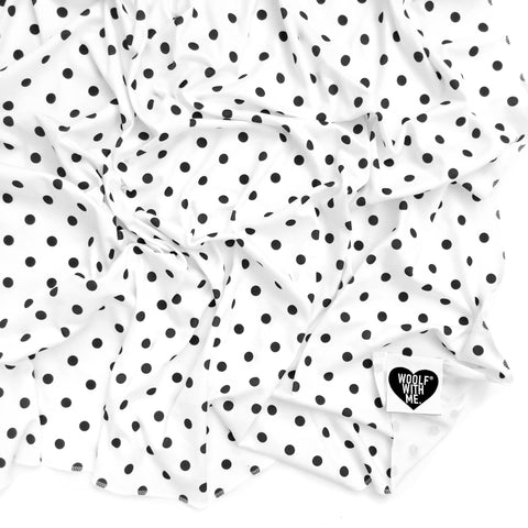 Organic Swaddle Blanket Polka Dots - Woolf With Me® - 1