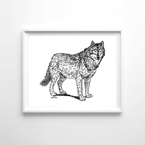 Wall Art Wolf, 8x10 - Woolf With Me®