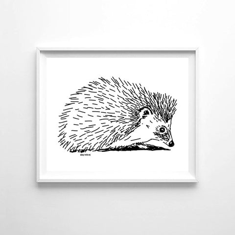 Wall Art Hedgehog, 8x10 - Woolf With Me®