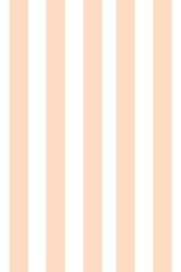 Woolf With Me Fitted Crib Sheet Stripes color_blush