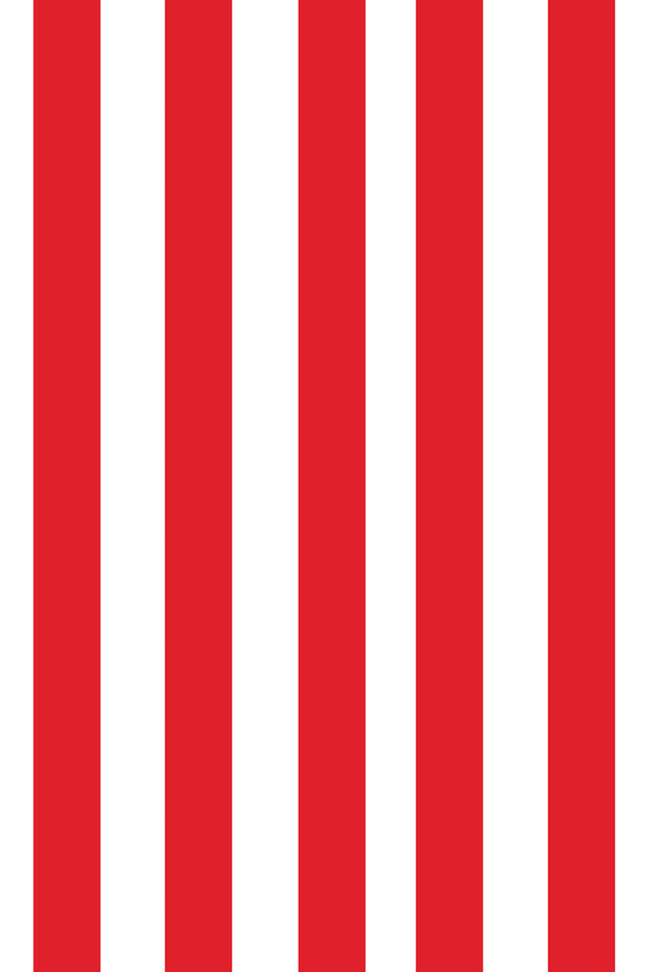 Woolf With Me Fitted Crib Sheet Stripes color_bright-red