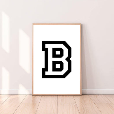 Letter Wall Art B color_black