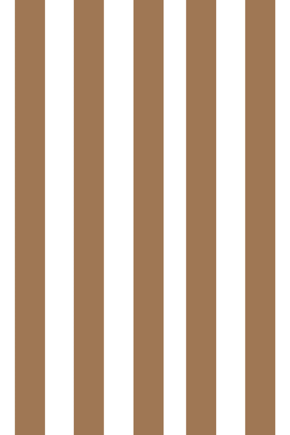 Woolf With Me Fitted Crib Sheet Stripes color_camel