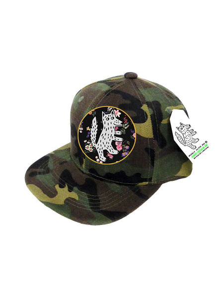 INFANT Trucker Hat Floral Wolf 0M-12M // Same Day Shipping!