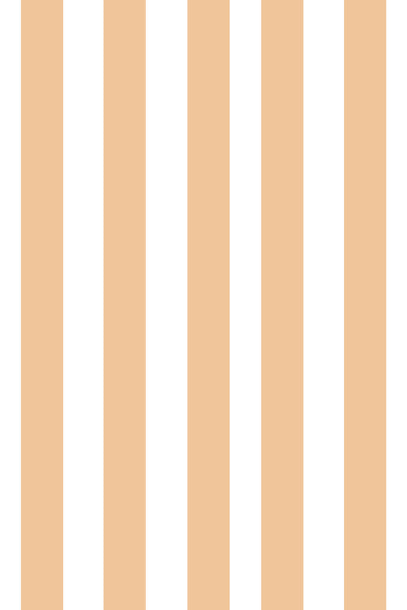 Woolf With Me Fitted Crib Sheet Stripes color_cantaloupe