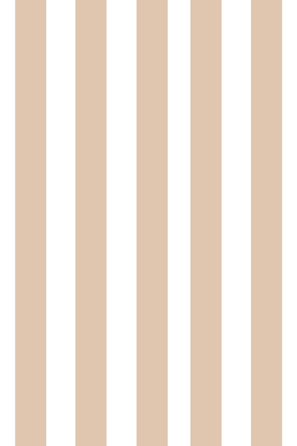 Woolf With Me Fitted Crib Sheet Stripes color_cashew