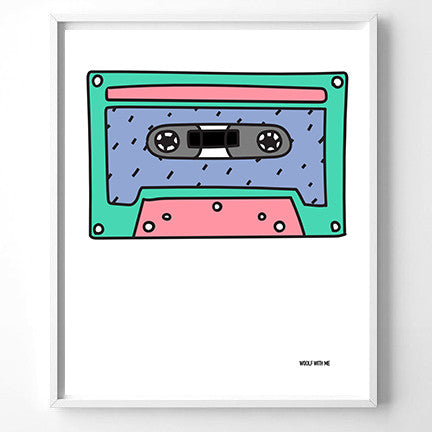 Wall Art Cassette Tape, 20x24 - Woolf With Me®
