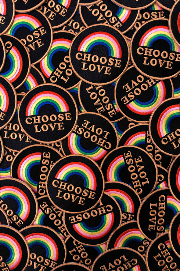 Rainbow Embroidery Patch Choose Love // Same Day Shipping!