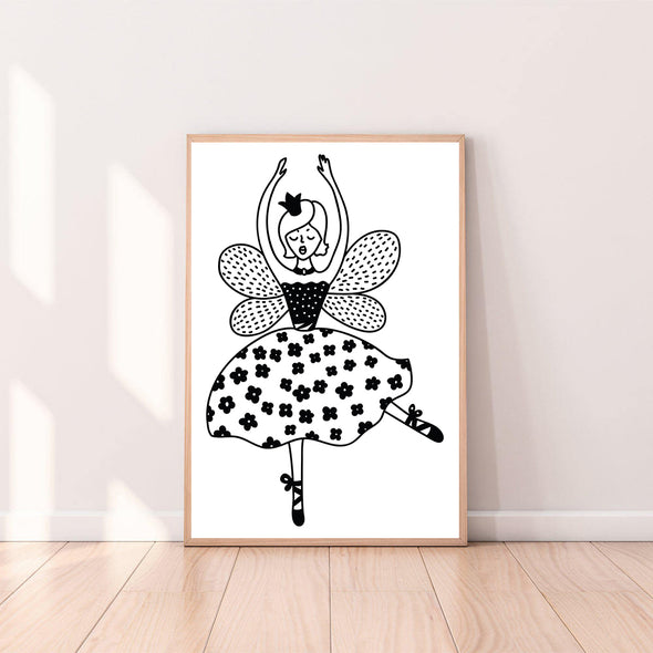 Wall Art Christmas Nutcracker Ballerina