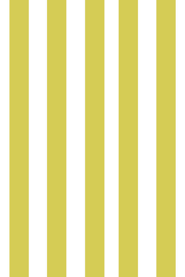Woolf With Me Fitted Crib Sheet Stripes color_citron