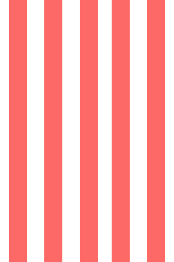 Woolf With Me Fitted Crib Sheet Stripes color_coral