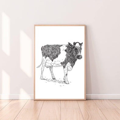 Wall Art Cow