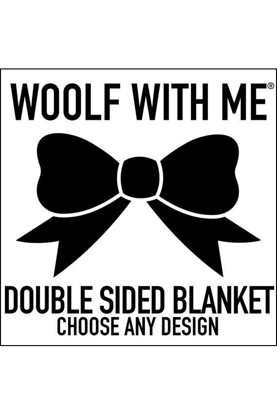 Organic Double Sided Blanket // Choose Any Print OR Text