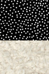Woolf With Me Organic Baby Blanket Scattered Polka Dots color_black