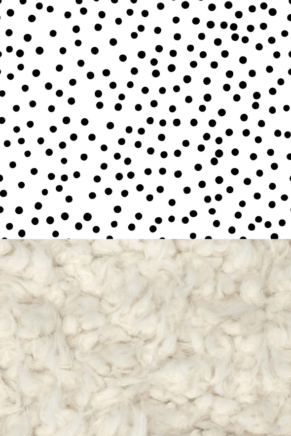 Woolf With Me Organic Baby Blanket Scattered Polka Dots color_white