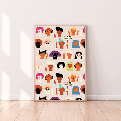 Wall Art Feminist color_coconut