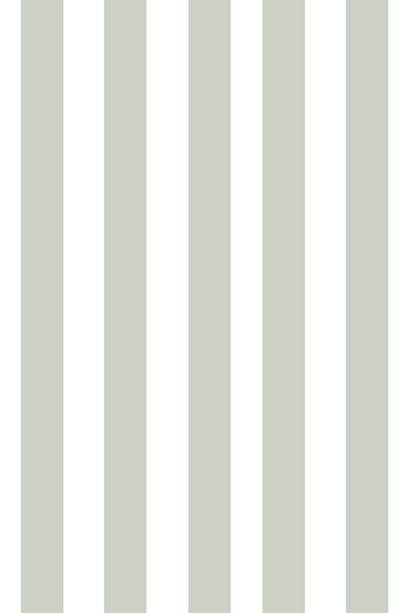 Woolf With Me Fitted Crib Sheet Stripes color_fern