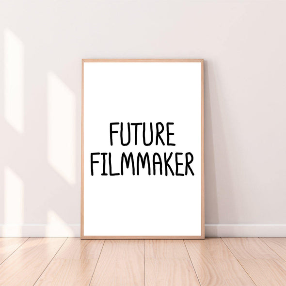 Wall Art Future Filmmaker color_black