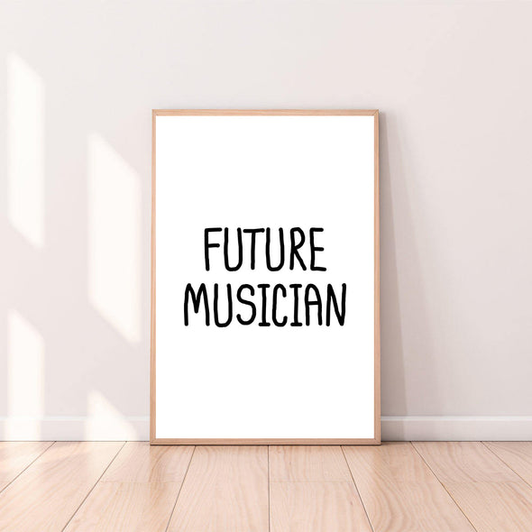 Wall Art Future Musician color_black
