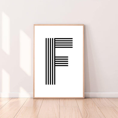Wall Art Letter F color_black