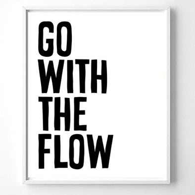Wall Art Go with the Flow