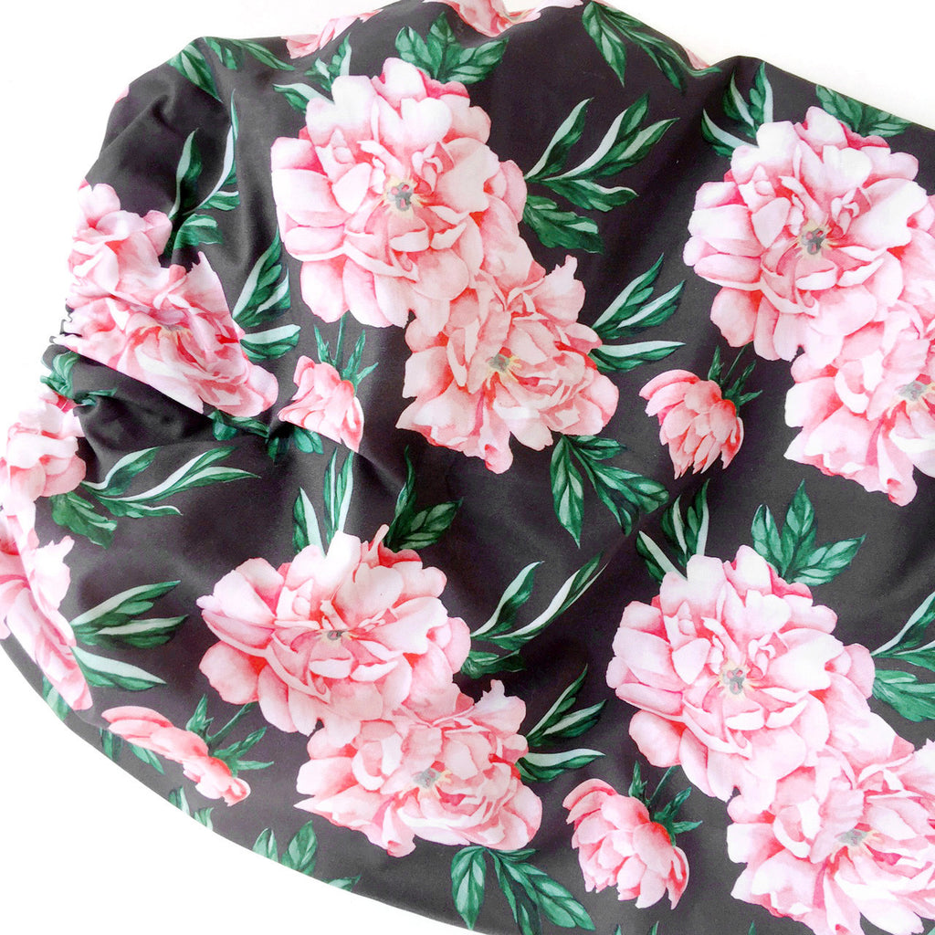 Organic Changing Pad Cover Peonies - Woolf With Me® - 1