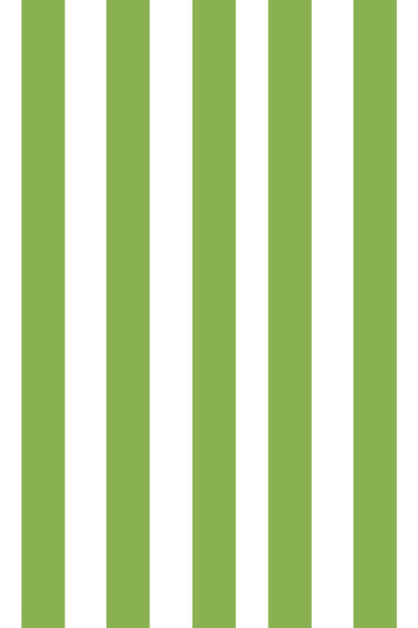 Woolf With Me Fitted Crib Sheet Stripes color_greenery