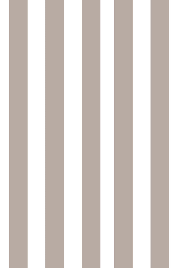 Woolf With Me Fitted Crib Sheet Stripes color_greige