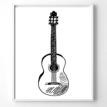 Wall Art Guitar