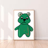 Wall Art Gummy Bear color_kelly-green