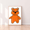 Wall Art Gummy Bear color_tangerine