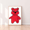 Wall Art Gummy Bear color_bright-red